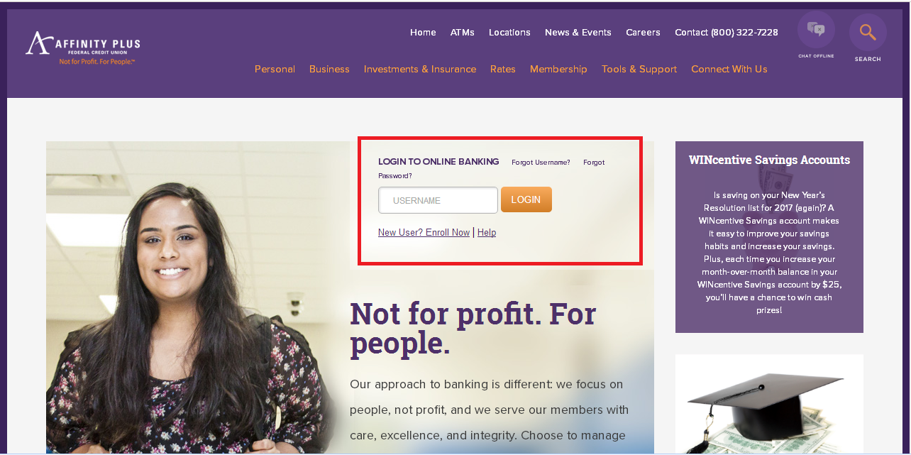 Affinity Plus Federal Credit Union online banking
