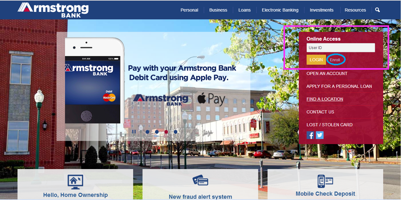Armstrong Bank Online Banking