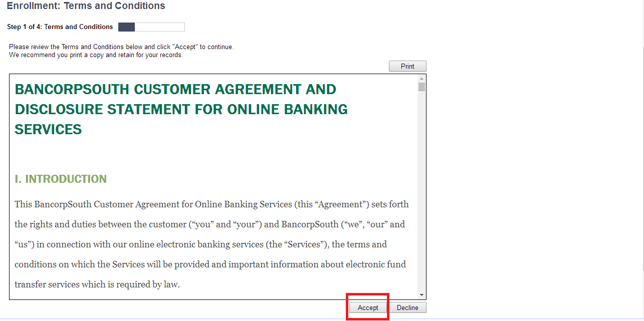BancorpSouth Online Banking