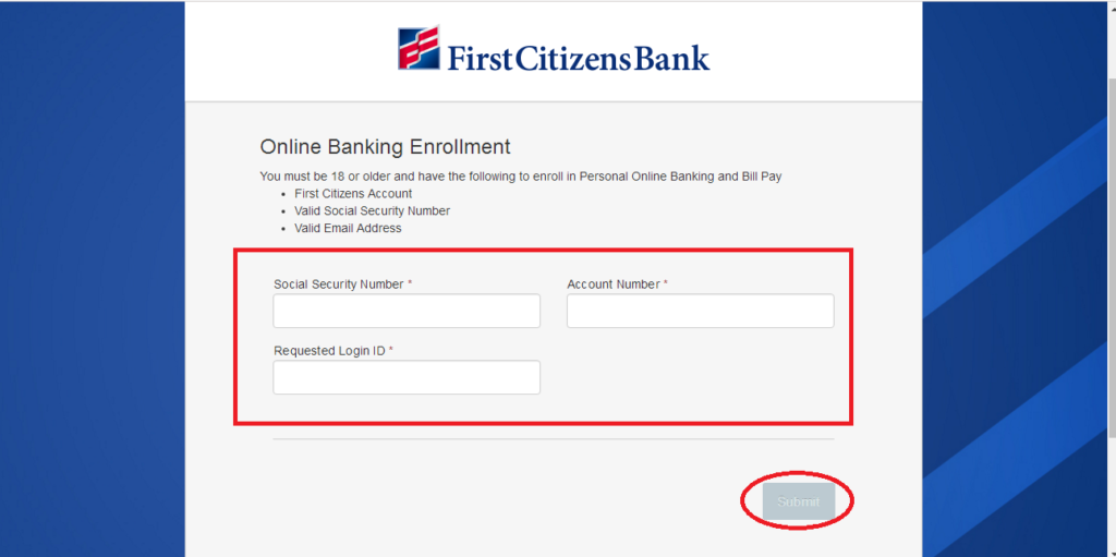first citizens bank login in